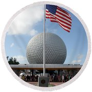 Epcot Usa Round Beach Towel