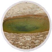 Ephedra Spring In West Thumb Geyser Basin Round Beach Towel