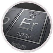 Erbium Chemical Element Round Beach Towel