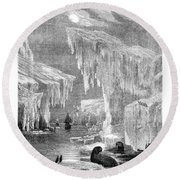 Erebus And Terror In The Ice 1866 Round Beach Towel