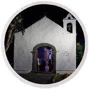 Ermita San Telmo. Puerto De La Cruz By Night Round Beach Towel