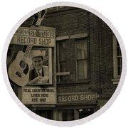 Ernest Tubb Record Shop Round Beach Towel