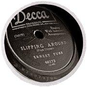 Ernest Tubb Vinyl Record Round Beach Towel