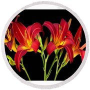 Erotic Red Flower Selection Romantic Lovely Valentine's Day Print Round Beach Towel
