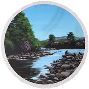 Erriff River Round Beach Towel