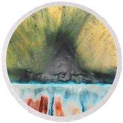 Eruption 1 Round Beach Towel