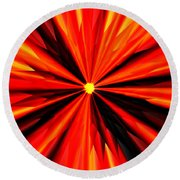 Eruption In Red Round Beach Towel