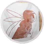 Esau - Tile Round Beach Towel
