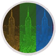 Esb Spectrum Round Beach Towel