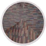 Escher Joins The Masons Round Beach Towel