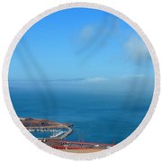 Escobedo Bay  -2 Round Beach Towel