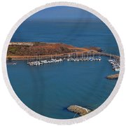 Escobedo Bay Round Beach Towel