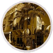Espanola Way In Miami South Beach Round Beach Towel