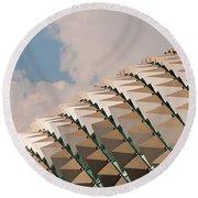 Esplanade Theatres Roof 01 Round Beach Towel