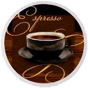 Espresso Passion Round Beach Towel