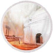 Essaouira Town Round Beach Towel
