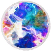 Essence - Abstract Art Round Beach Towel