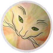 Essence Of Cat Round Beach Towel