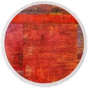 Essence Of Red Round Beach Towel by Michelle Calkins
