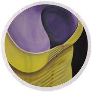 Essence Of Violet Round Beach Towel