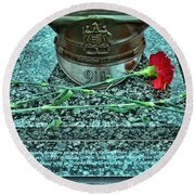 Essex County N J 9-11 Memorial 6  Round Beach Towel