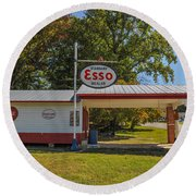Esso Dealer Round Beach Towel