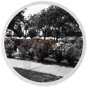 Esther Short Park Rose Garden Round Beach Towel
