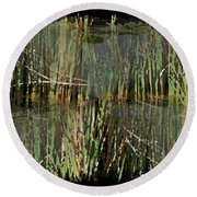 Estuaries Edge Round Beach Towel