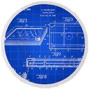 Etch A Sketch Patent 1959 - Blue Round Beach Towel