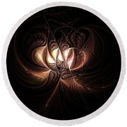 Etched Bloom Round Beach Towel