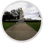 Eternal Light Peace Memorial Round Beach Towel