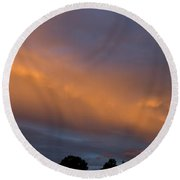 Ethereal Clouds Round Beach Towel