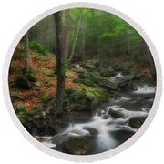 Ethereal Forest Round Beach Towel