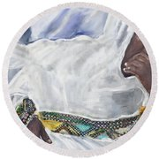 Ethiopian Orthodox Jewish Woman Round Beach Towel