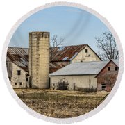 Ethridge Tennessee Amish Barn Round Beach Towel by Kathy Clark