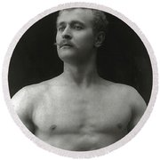 Eugen Sandow Round Beach Towel