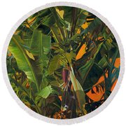 Eugene And Evans' Banana Tree Round Beach Towel