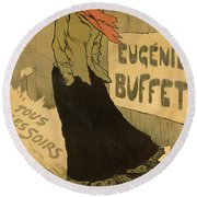 Eugenie Buffet Poster Round Beach Towel