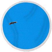 Eurasian Skylark Round Beach Towel