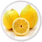Eureka Lemons Round Beach Towel