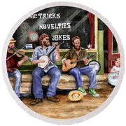 Eureka Springs Novelty Shop String Quartet Round Beach Towel