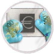 Euro Gloves-1 Round Beach Towel