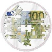 Euro Puzzle Round Beach Towel
