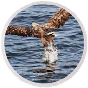 European Fishing Sea Eagle 2 Round Beach Towel