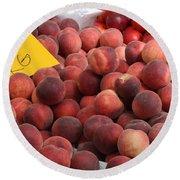 European Markets - Peaches And Nectarines Round Beach Towel
