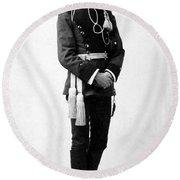 European Officer, 1890s Round Beach Towel