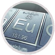 Europium Chemical Element Round Beach Towel