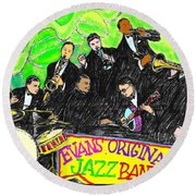 Evans Original Jazz Band Round Beach Towel
