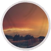 Even Now Round Beach Towel by Laurie Search