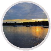 Evening Approaches Round Beach Towel